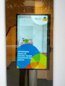 Elektronisches Türschild bei Meeet