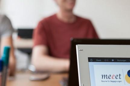 Coworking am Schreibtisch bei Meeet