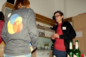 Diskussionen in der Küche