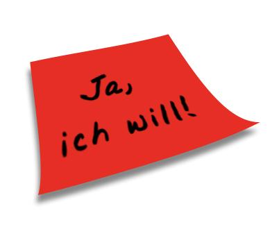 Ja,ich will - Post-It