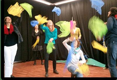 Tuch Jonglage jonglieren