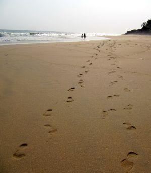 Fussabruecke am Strand