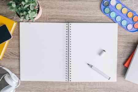 Leeres Notizbuch als Symbolbild für Jobs bei Meeet