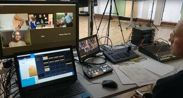 Live-streaming bei Meeet im Pavillon