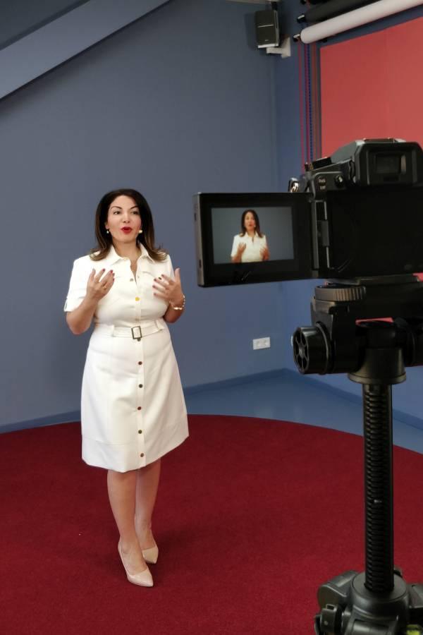 Aufnahme eines virtuellen Vortrags bei Meeet